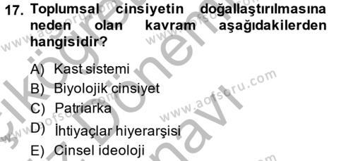 Çalışma Sosyolojisi Dersi Dönem Sonu Sınavı Deneme Sınav Soruları 17. Soru