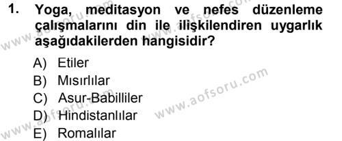 Spor Bilimlerine Giriş Dersi 2012 - 2013 Yılı Dönem Sonu Sınavı 1. Soru