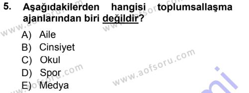 Spor Yönetimi Bölümü 1. Yarıyıl Spor Bilimlerine Giriş Dersi 2013 Yılı Güz Dönemi Dönem Sonu Sınavı 5. Soru