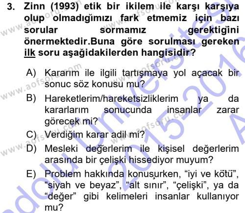 Spor Yönetimi Bölümü 1. Yarıyıl Spor Bilimlerine Giriş Dersi 2016 Yılı Güz Dönemi Ara Sınavı 3. Soru