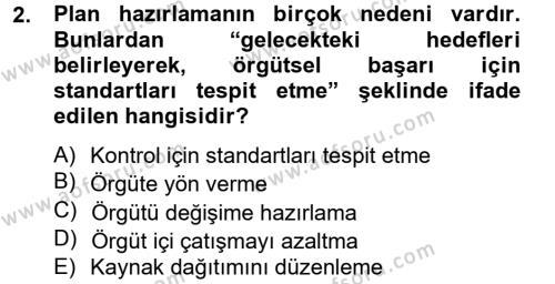 Spor Yönetimi Bölümü 2. Yarıyıl Spor Yönetimi Dersi 2014 Yılı Bahar Dönemi Dönem Sonu Sınavı 2. Soru