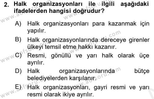Spor Yönetimi Dersi 2017 - 2018 Yılı (Vize) Ara Sınav Soruları 2. Soru