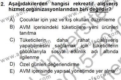 Boş Zaman ve Rekreasyon Yönetimi Dersi 2015 - 2016 Yılı (Final) Dönem Sonu Sınav Soruları 2. Soru
