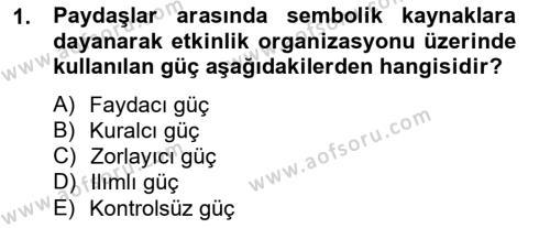 Spor Yönetimi Bölümü 4. Yarıyıl Etkinlik Yönetimi Dersi 2013 Yılı Bahar Dönemi Ara Sınavı 1. Soru