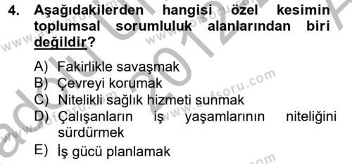 Spor Yönetimi Bölümü 4. Yarıyıl Etkinlik Yönetimi Dersi 2013 Yılı Bahar Dönemi Ara Sınavı 4. Soru