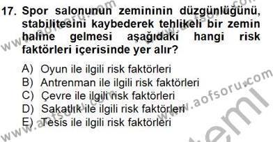 Sporda Risk Yönetimi Dersi Ara Sınavı Deneme Sınav Soruları 17. Soru