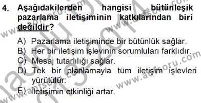 Spor Yönetimi Bölümü 4. Yarıyıl Sporda Sponsorluk Dersi 2014 Yılı Bahar Dönemi Tek Ders Sınavı 4. Soru