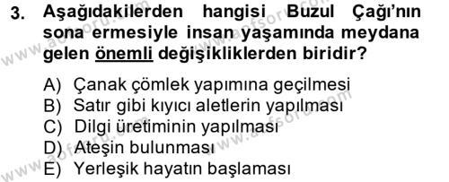 Tarih Bölümü 1. Yarıyıl Eski Anadolu Tarihi Dersi 2015 Yılı Güz Dönemi Ara Sınavı 3. Soru