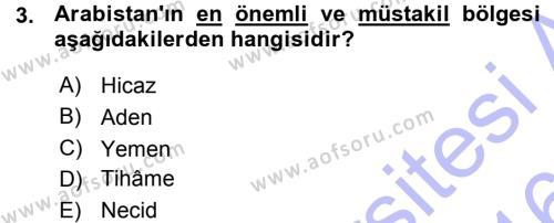 Tarih Bölümü 1. Yarıyıl İslam Tarihi ve Medeniyeti I Dersi 2016 Yılı Güz Dönemi Ara Sınavı 3. Soru
