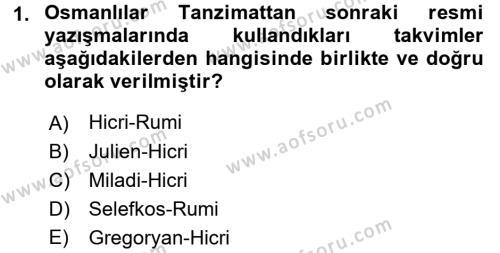 Tarih Metodu Dersi 2016 - 2017 Yılı (Vize) Ara Sınav Soruları 1. Soru