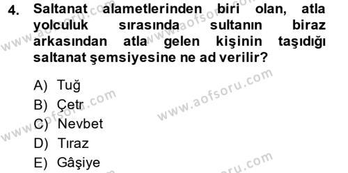 Büyük Selçuklu Tarihi Dersi 2014 - 2015 Yılı Dönem Sonu Sınavı 4. Soru