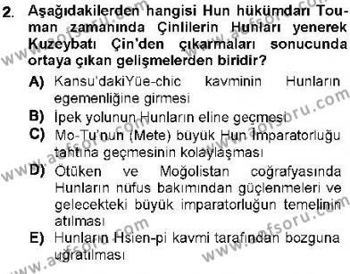 Orta Asya Türk Tarihi Dersi 2012 - 2013 Yılı Dönem Sonu Sınavı 2. Soru