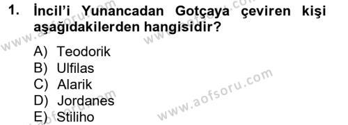 Bizans Tarihi Dersi 2012 - 2013 Yılı Ara Sınavı 1. Soru
