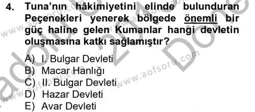 Bizans Tarihi Dersi 2013 - 2014 Yılı (Final) Dönem Sonu Sınavı 4. Soru