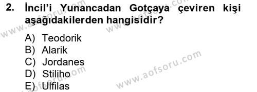 Bizans Tarihi Dersi 2014 - 2015 Yılı Ara Sınavı 2. Soru