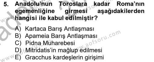 Tarih Bölümü 2. Yarıyıl Bizans Tarihi Dersi 2015 Yılı Bahar Dönemi Ara Sınavı 5. Soru