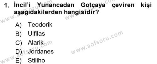 Bizans Tarihi Dersi 2015 - 2016 Yılı Dönem Sonu Sınavı 1. Soru