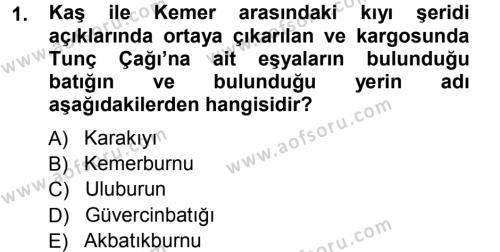 Hellen ve Roma Tarihi Dersi 2012 - 2013 Yılı Ara Sınavı 1. Soru