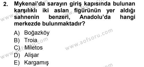 Tarih Bölümü 1. Yarıyıl Hellen ve Roma Tarihi Dersi 2013 Yılı Güz Dönemi Ara Sınavı 2. Soru