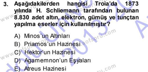 Hellen ve Roma Tarihi Dersi 2013 - 2014 Yılı Ara Sınavı 3. Soru