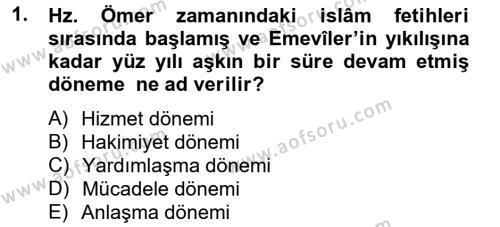 İlk Müslüman Türk Devletleri Dersi 2012 - 2013 Yılı Ara Sınavı 1. Soru