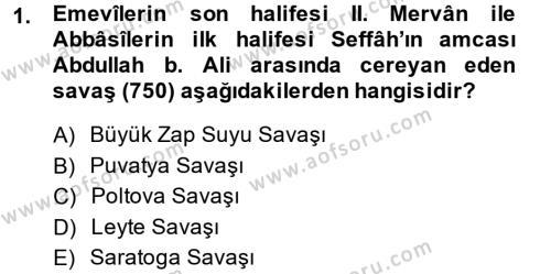 İlk Müslüman Türk Devletleri Dersi 2014 - 2015 Yılı Ara Sınavı 1. Soru
