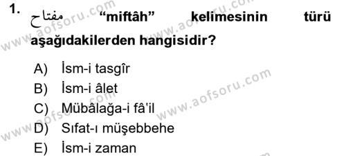 Osmanlı Türkçesi 2 Dersi 2017 - 2018 Yılı (Final) Dönem Sonu Sınav Soruları 1. Soru