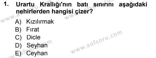 Uygarlık Tarihi 1 Dersi 2012 - 2013 Yılı (Final) Dönem Sonu Sınav Soruları 1. Soru