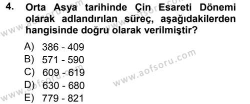 Uygarlık Tarihi 1 Dersi 2012 - 2013 Yılı (Final) Dönem Sonu Sınav Soruları 4. Soru