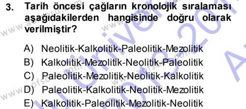 Uygarlık Tarihi 1 Dersi 2013 - 2014 Yılı Ara Sınavı 3. Soru