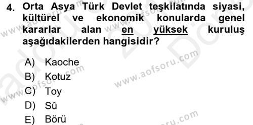 Uygarlık Tarihi 1 Dersi 2016 - 2017 Yılı (Final) Dönem Sonu Sınav Soruları 4. Soru