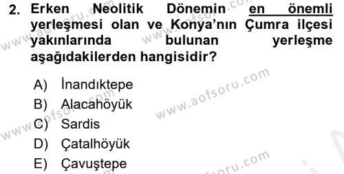 Genel Uygarlık Tarihi Dersi 2015 - 2016 Yılı Ara Sınavı 2. Soru