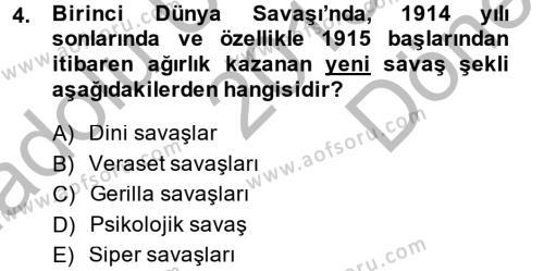 Siyasi Tarih Dersi 2013 - 2014 Yılı (Final) Dönem Sonu Sınav Soruları 4. Soru