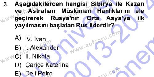 Siyasi Tarih 1 Dersi 2013 - 2014 Yılı Dönem Sonu Sınavı 3. Soru