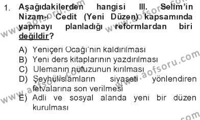 Atatürk İlkeleri Ve İnkılap Tarihi 1 Dersi 2012 - 2013 Yılı Tek Ders Sınavı 1. Soru
