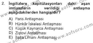 Atatürk İlkeleri Ve İnkılap Tarihi 1 Dersi 2012 - 2013 Yılı Tek Ders Sınavı 2. Soru