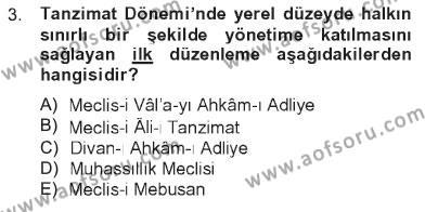 Atatürk İlkeleri Ve İnkılap Tarihi 1 Dersi 2012 - 2013 Yılı Tek Ders Sınavı 3. Soru