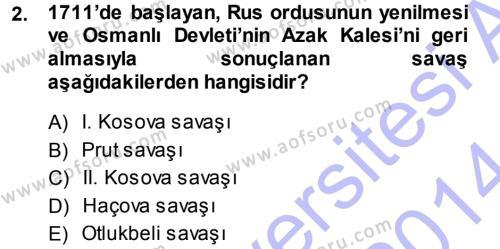 Atatürk İlkeleri Ve İnkılap Tarihi 1 Dersi 2013 - 2014 Yılı (Vize) Ara Sınavı 2. Soru