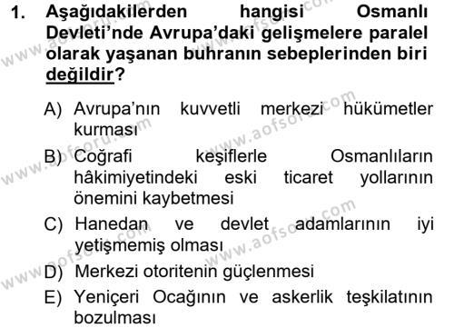 Atatürk İlkeleri Ve İnkılap Tarihi 1 Dersi 2014 - 2015 Yılı Tek Ders Sınavı 1. Soru