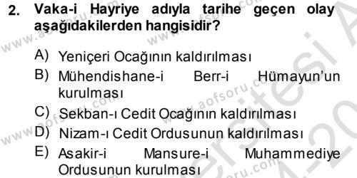 Atatürk İlkeleri Ve İnkılap Tarihi 1 Dersi 2014 - 2015 Yılı Tek Ders Sınavı 2. Soru