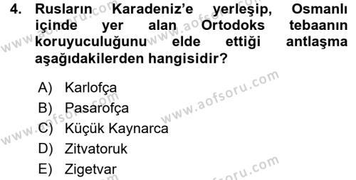 Atatürk İlkeleri Ve İnkılap Tarihi 1 Dersi 2015 - 2016 Yılı Ara Sınavı 4. Soru