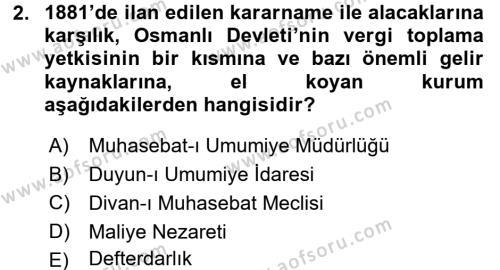 Atatürk İlkeleri Ve İnkılap Tarihi 1 Dersi 2016 - 2017 Yılı Ara Sınavı 2. Soru