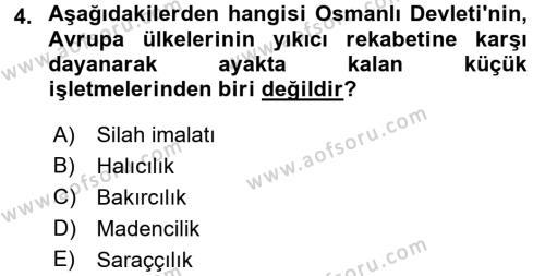 Atatürk İlkeleri Ve İnkılap Tarihi 1 Dersi 2017 - 2018 Yılı (Final) Dönem Sonu Sınavı 4. Soru