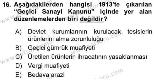 Atatürk İlkeleri Ve İnkılap Tarihi 1 Dersi 2018 - 2019 Yılı 3 Ders Sınavı 16. Soru 1. Soru