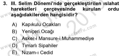 Atatürk İlkeleri Ve İnkılap Tarihi 1 Dersi 2018 - 2019 Yılı 3 Ders Sınav Soruları 3. Soru