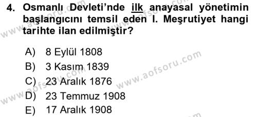 Atatürk İlkeleri Ve İnkılap Tarihi 1 Dersi 2018 - 2019 Yılı 3 Ders Sınav Soruları 4. Soru