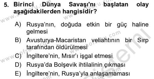 Atatürk İlkeleri Ve İnkılap Tarihi 1 Dersi 2018 - 2019 Yılı 3 Ders Sınavı 5. Soru 1. Soru