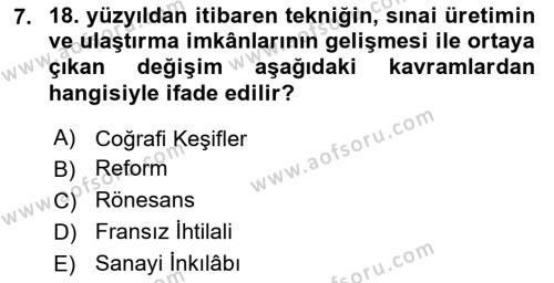 Atatürk İlkeleri Ve İnkılap Tarihi 1 Dersi 2018 - 2019 Yılı 3 Ders Sınavı 7. Soru 1. Soru