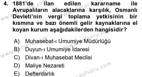 Atatürk İlkeleri Ve İnkılap Tarihi 1 Dersi 2018 - 2019 Yılı (Vize) Ara Sınav Soruları 4. Soru