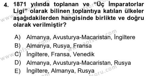 Atatürk İlkeleri Ve İnkılap Tarihi 1 Dersi 2018 - 2019 Yılı (Final) Dönem Sonu Sınavı 4. Soru